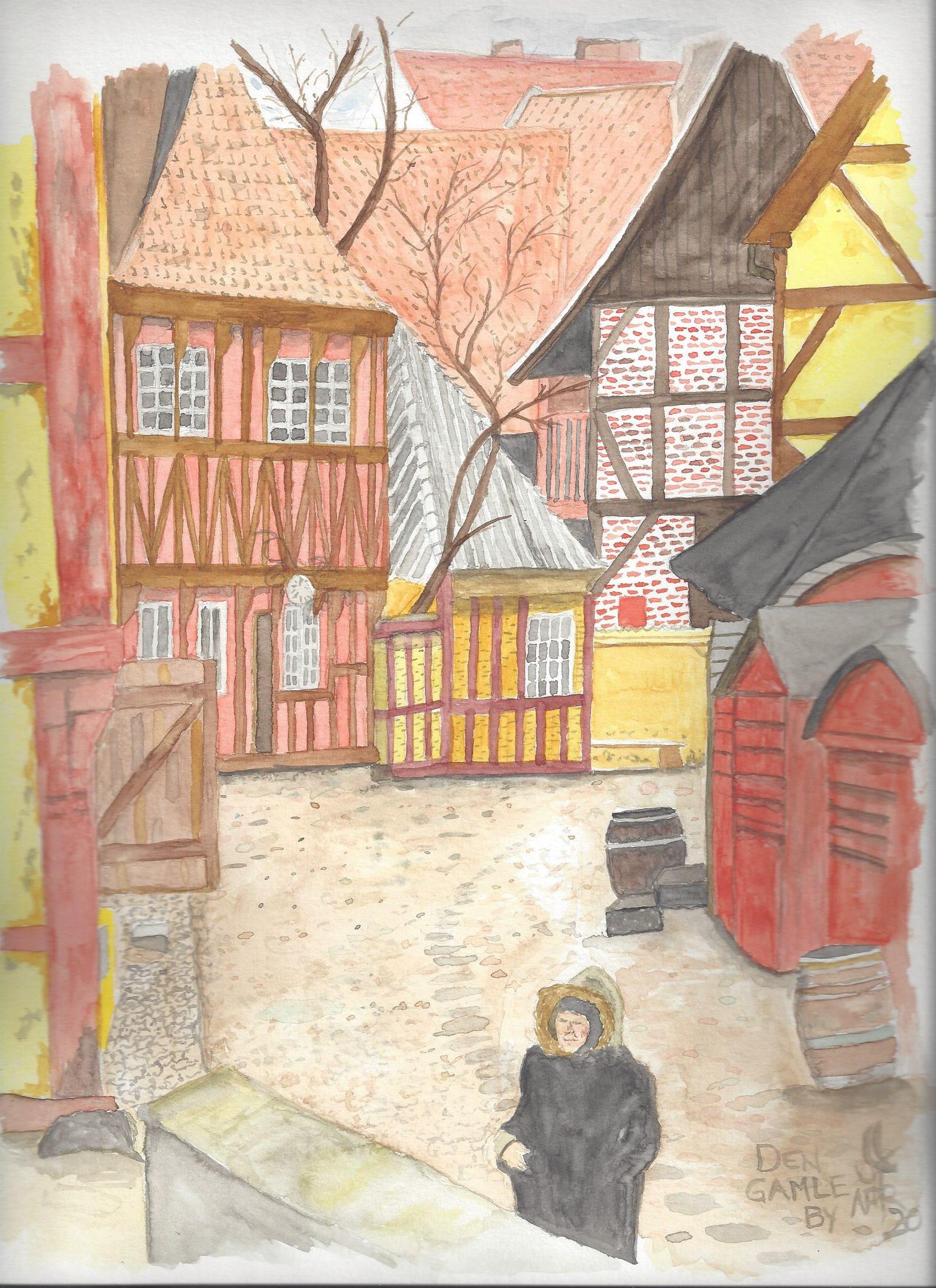 A watercolour of Aarhus, Denmark #3