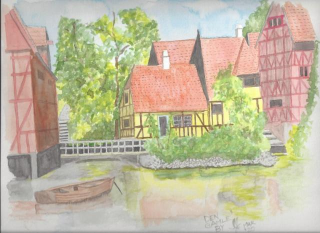 A watercolour of Aarhus, Denmark #2