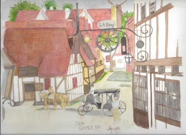 A watercolour of Aarhus, Denmark #1