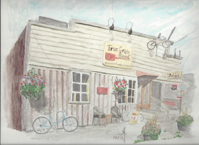 Water Colour of True Grain Bread in Cowichan Bay